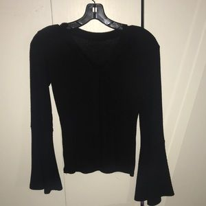 Black long sleeve, flare arms